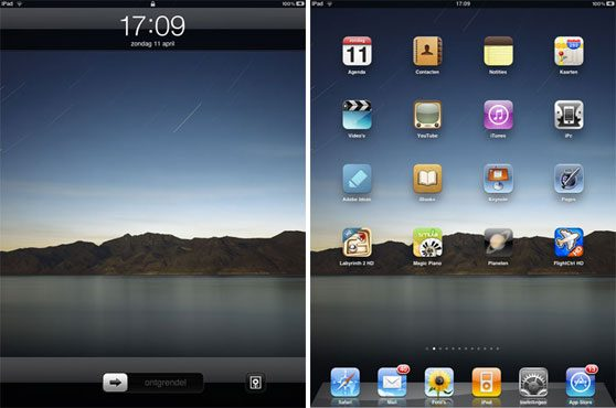 ipad lockscreen homescreen