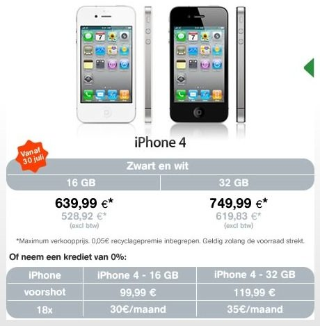 iphone belgie mobistar