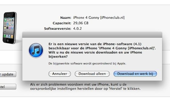 iphone os 41 update