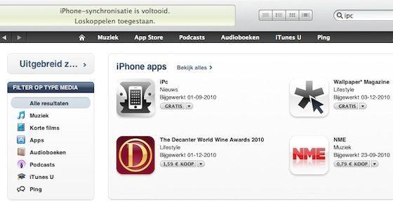 ipc app itunes