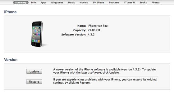Een backup maken in iTunes