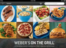 Weber's on the Grill iPad header