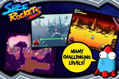 GU WO Space Rockets iPhone screenshot