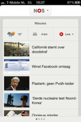 NOS app screenshot