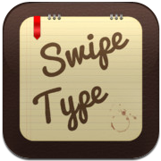 SwipeType iPhone iPod touch schrijven met swipe shortcuts