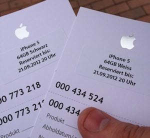 iPhone 5 tickets