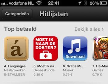 app store prijzen