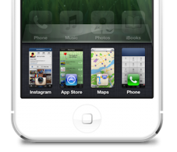 iPhone 5 multitask concept