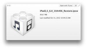 ipad restores