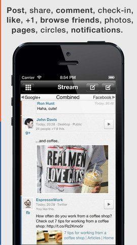 Jift gecombineerde nieuwsfeed Facebook en Google+