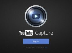 YouTube Capture header iPad