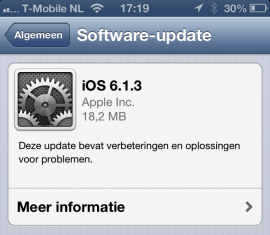 iOS 6.1.3 software-update iPhone