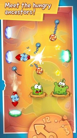 Cut the Rope Time Travel duo Om Nom