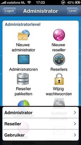 DA for iPhone DirectAdmin-app administrator