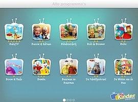 KinderTeevee iPad iPhone programmaoverzicht