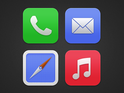 Alternatieve iOS7 designs Angela