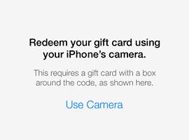 App Store redeem camera