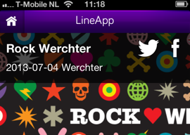 LineApp Rock Werchter iPhone