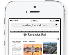 Safari iOS 7 browser header