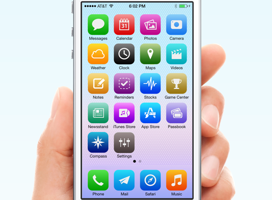 iOS7 Alternatieve designs nostalgie