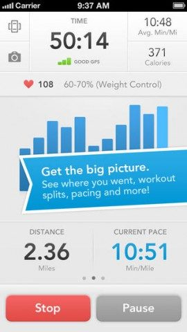 iOS7 Apps RunKeeper iPhone