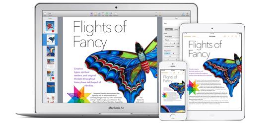 Apple iWork apps vernieuwd iOS Mac iCloud