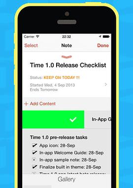 Time tekst bewerken taak afvinken iOS