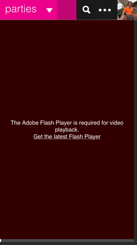 Socl Flash Player waarschuwing iPhone