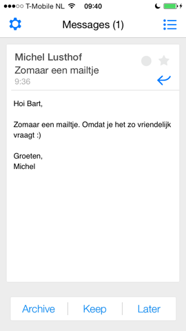 Magin e-mail behandelen iPhone