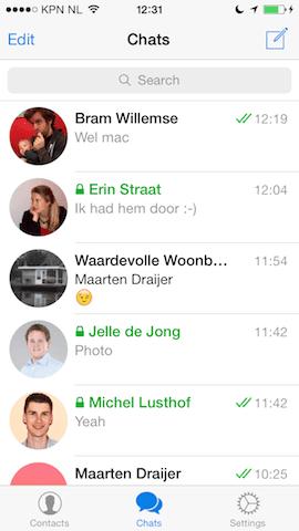 Telegram Messenger chats