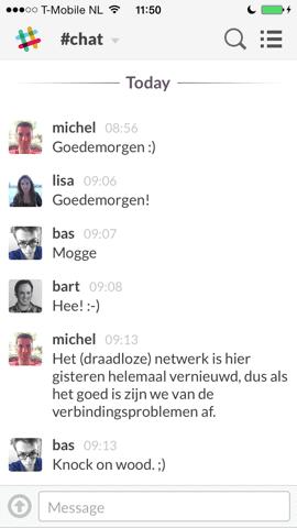 Slack App chatten