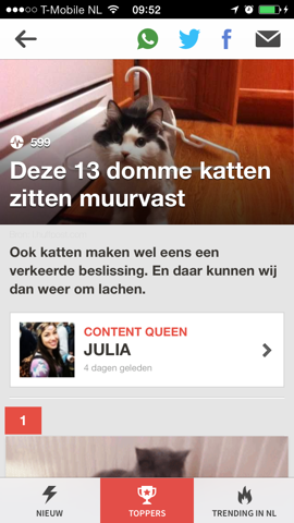 Upcoming Nederlandse BuzzFeed iPhone