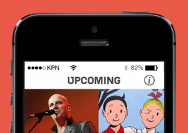 Upcoming iPhone-app vernieuwd