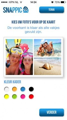 Snappic iPhone ansichtkaart