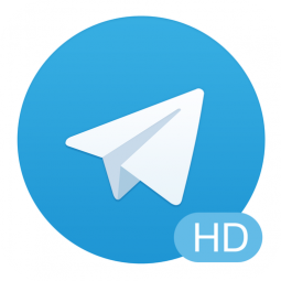telegram hd icoon groot